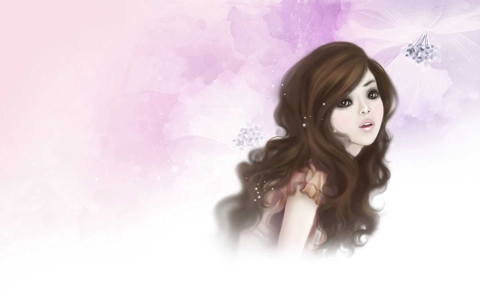 1680x1050 Pretty Cartoon Girl desktop PC and Mac wallpaper