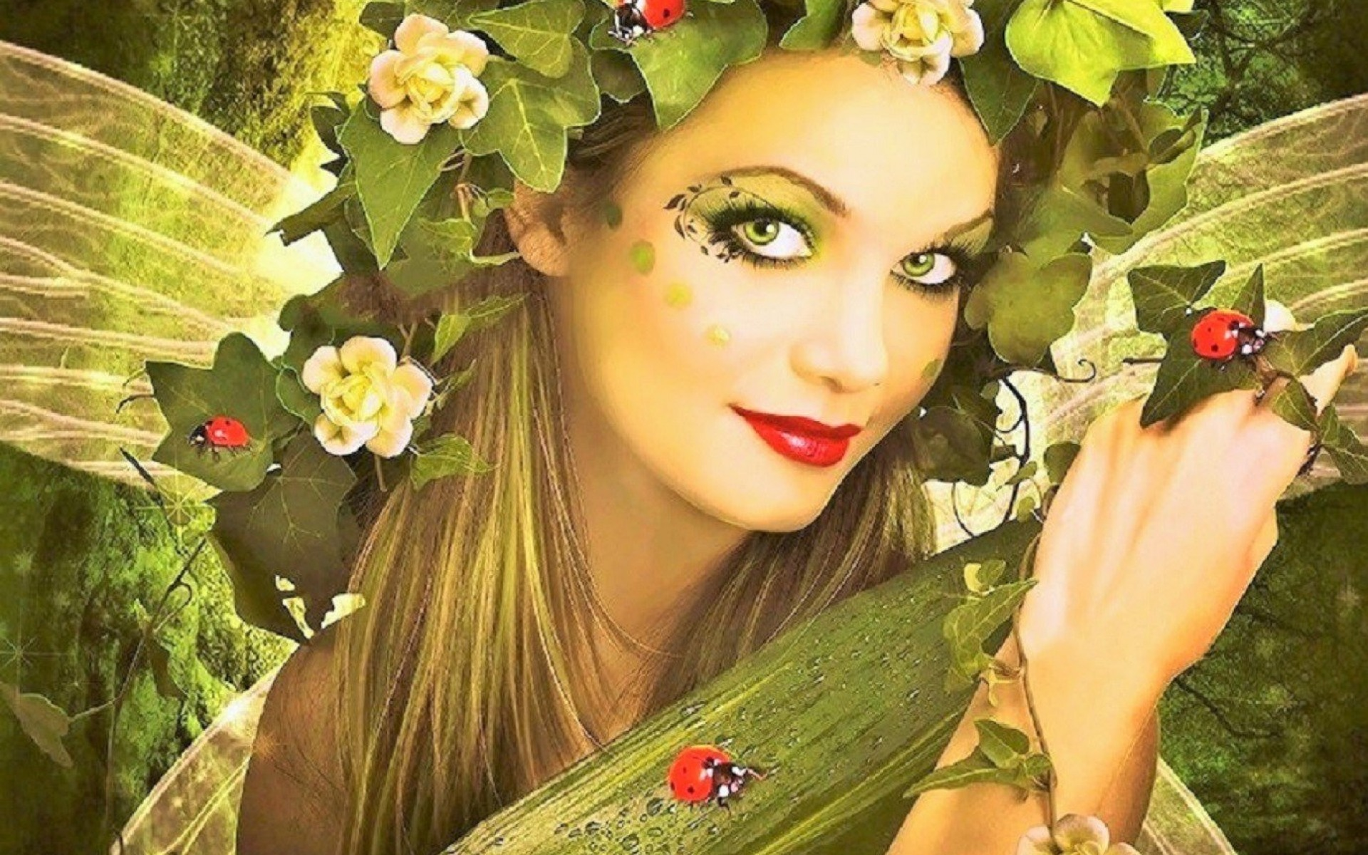Pretty Lady Bug Fairy Wallpapers