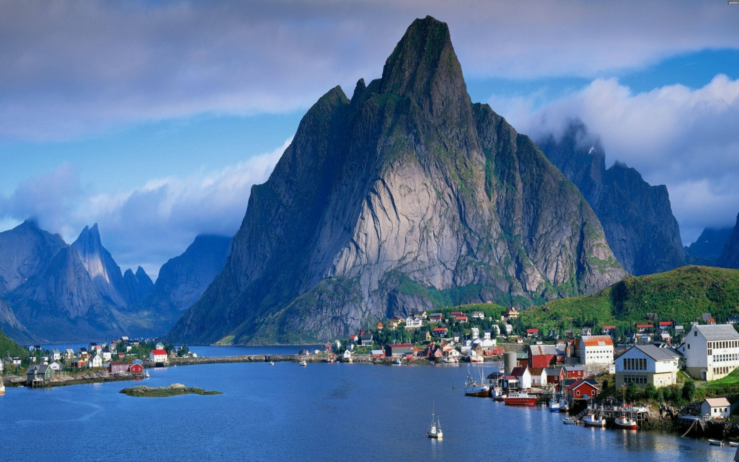 1440x900 Pretty Lofoten Norway