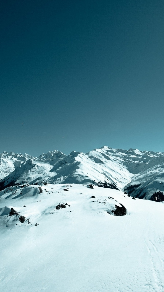640x1136 Pretty Snowy Mountains Iphone 5 wallpaper