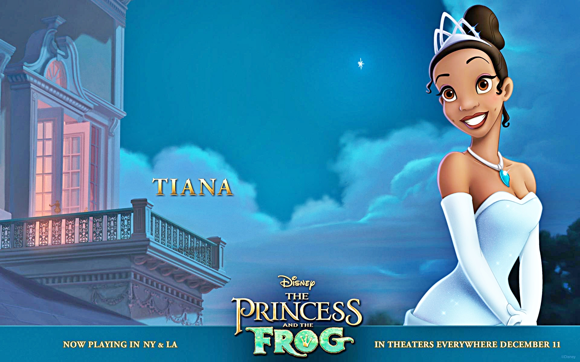 Princess And The Frog Disney Characters Tiana Wallpapers