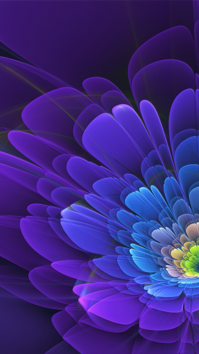 Purple Flower Abstract Iphone 5 wallpaper