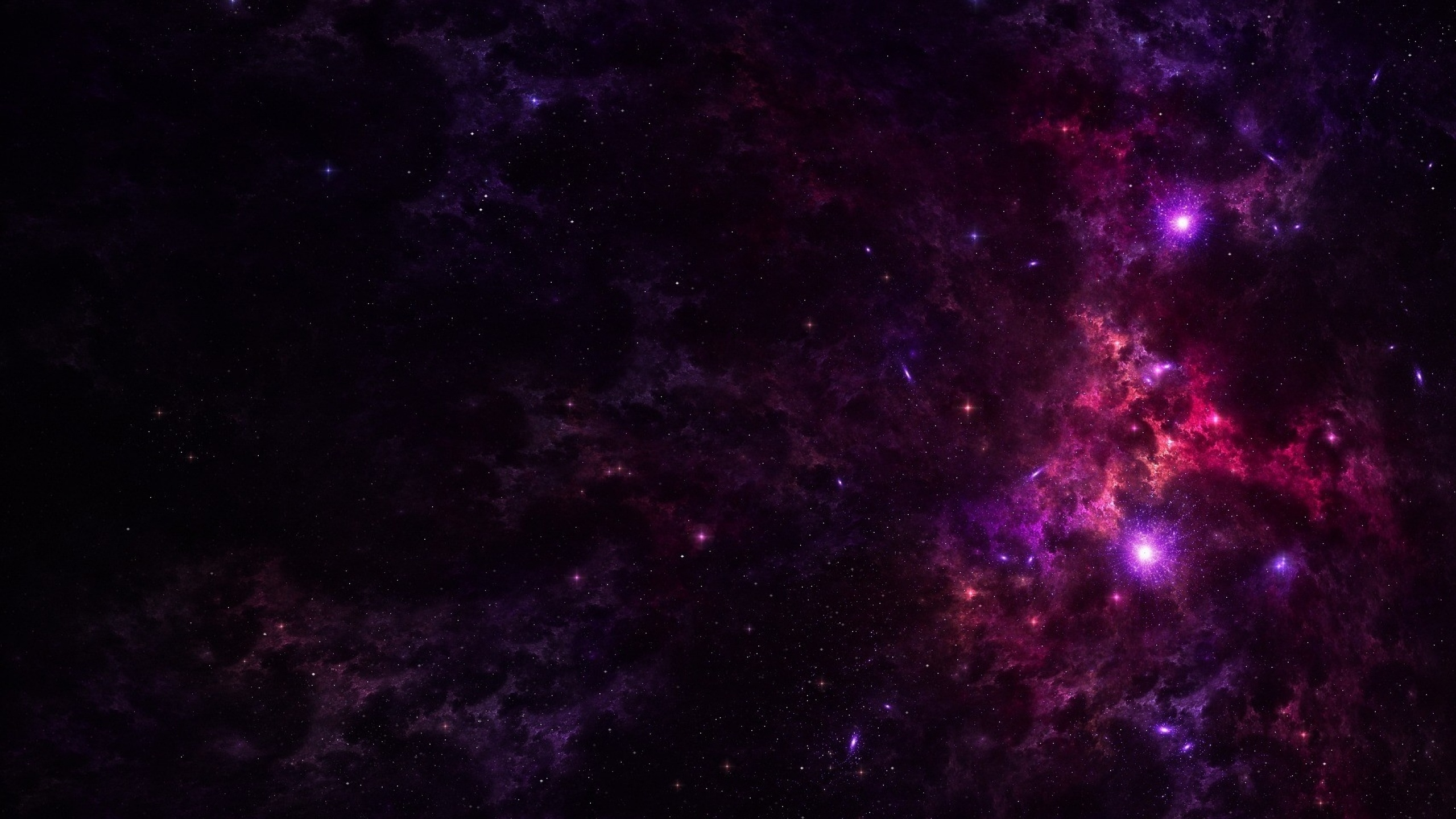 2560x1440 purple outer space stars desktop pc and mac - Space 2560 x 1440 ...