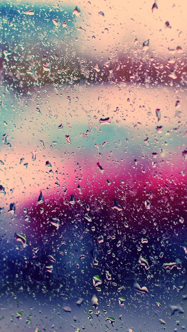 640x1136 Rain On Window Iphone 5 Wallpaper
