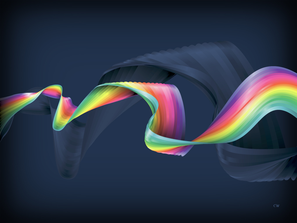 1024x768 Rainbow Ribbon desktop wallpapers and stock photos
