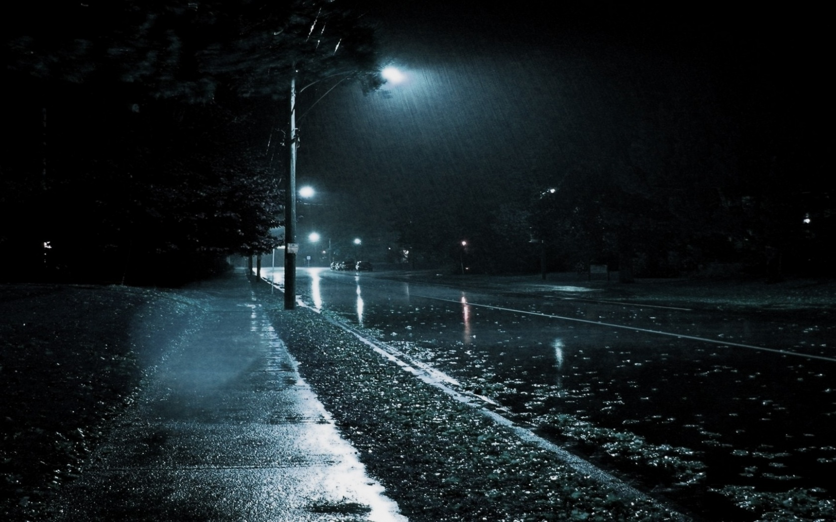 rainy night wallpapers background - photo #4