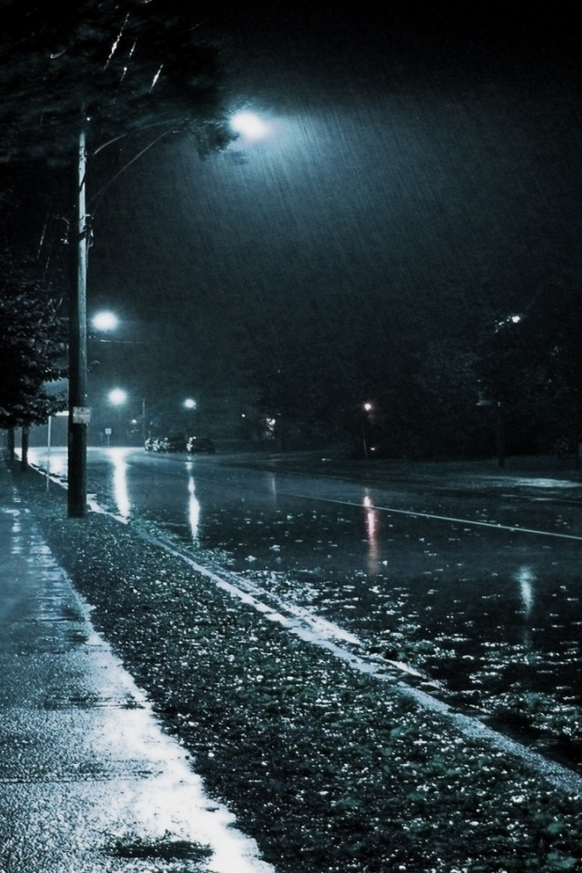 rainy night wallpapers background - photo #3