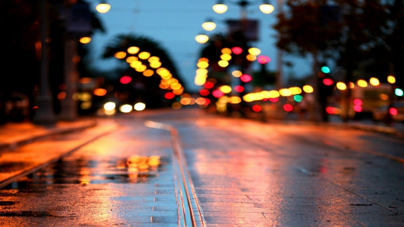 rainy night wallpapers background - photo #37