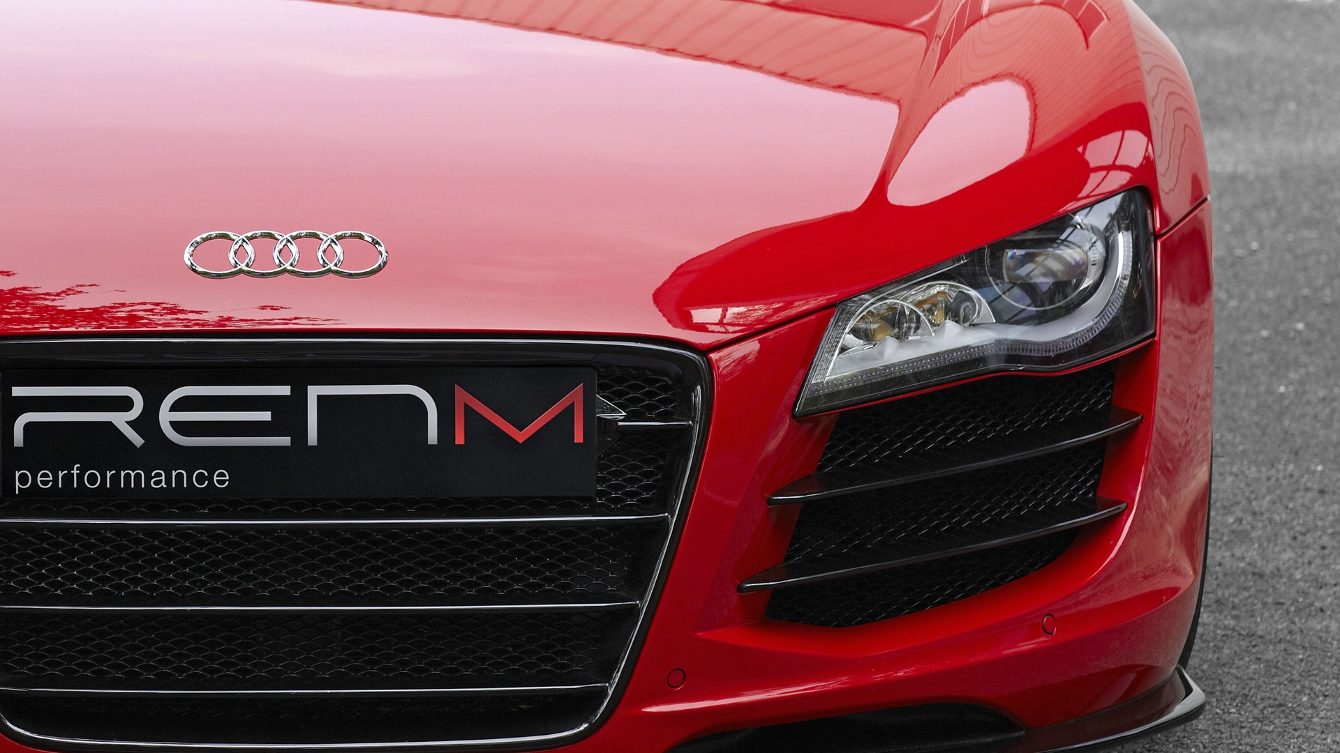 1920x1080 Red Audi R8 V10 Headlight Desktop PC And Mac Wallpaper