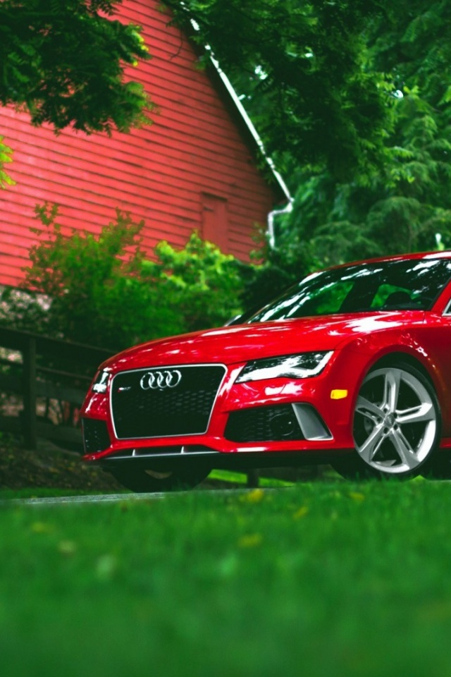 640x960 Red Audi Rs7 Iphone 4 Wallpaper