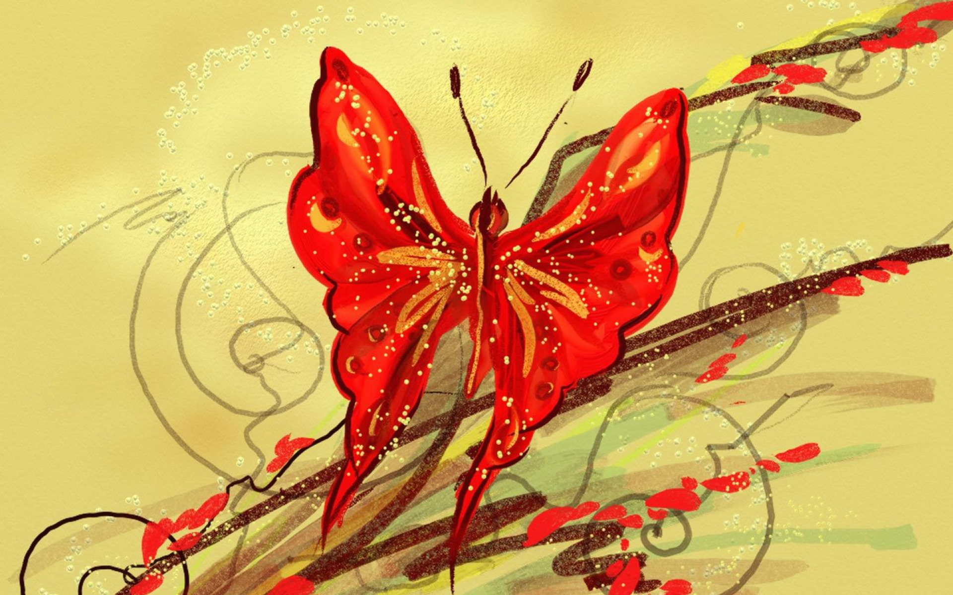 red butterfly wallpapers - photo #7