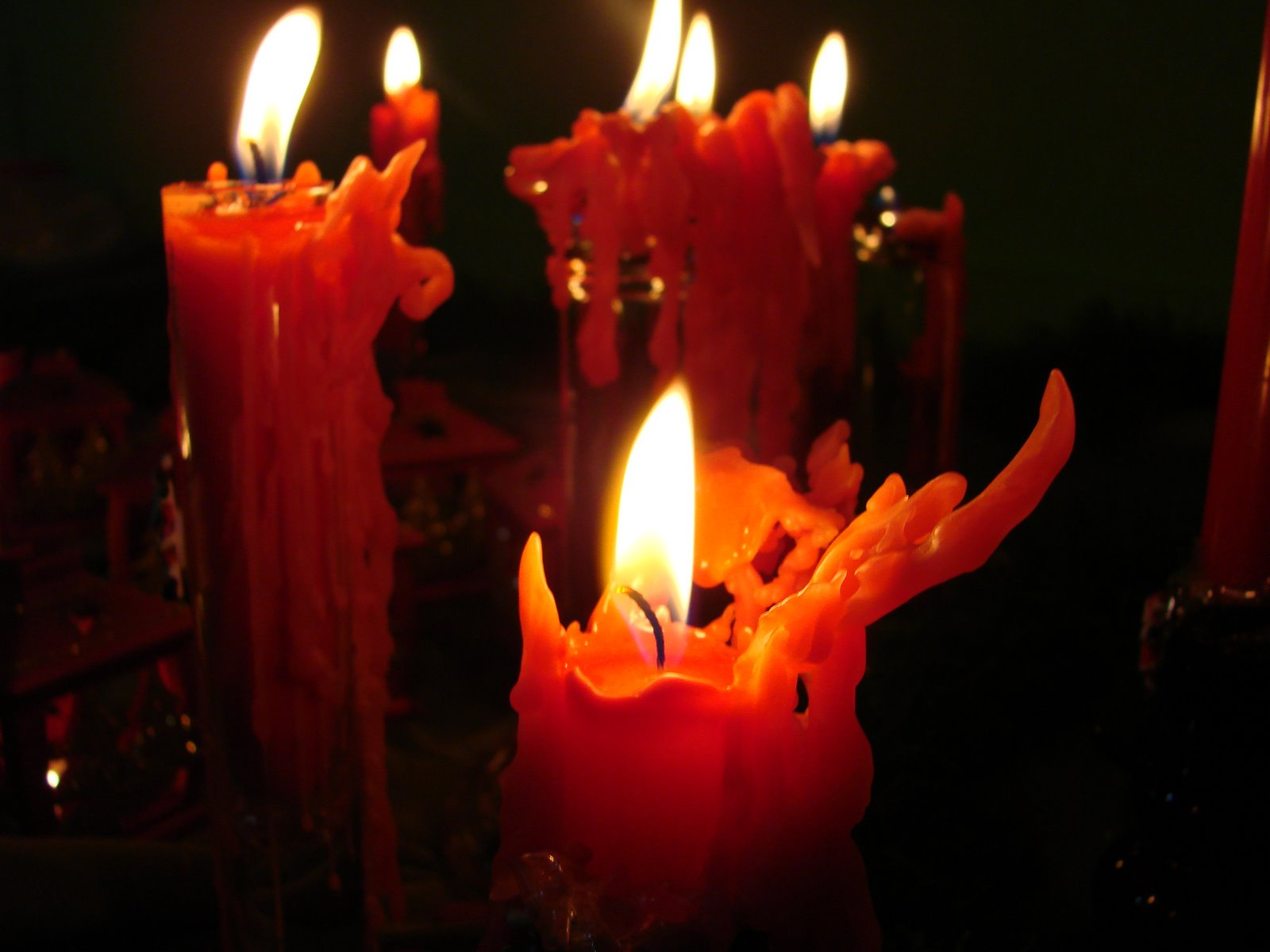 1600 Red Candles desktop wallpapers and stock photos