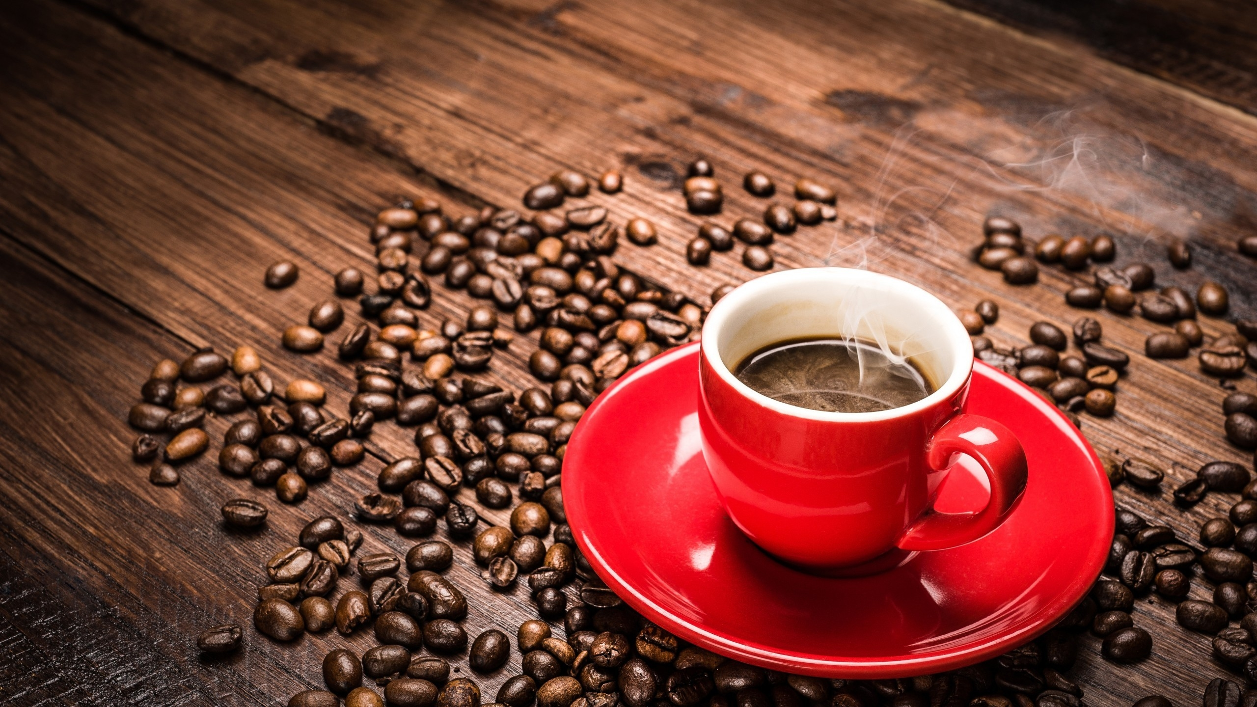 Coffee Beans And Cup Background