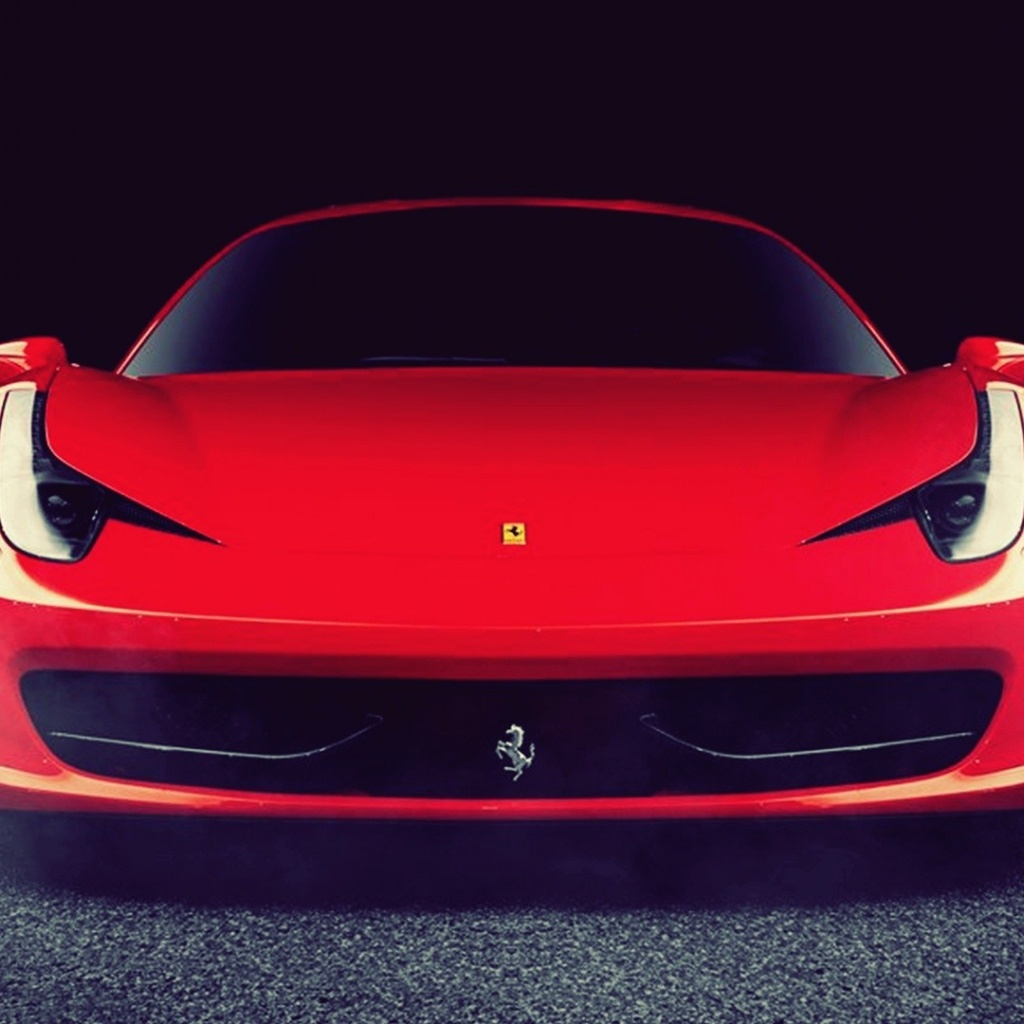 Ferrari Front: 1024x1024 Red Ferrari 458 Italia Front Desktop PC And Mac