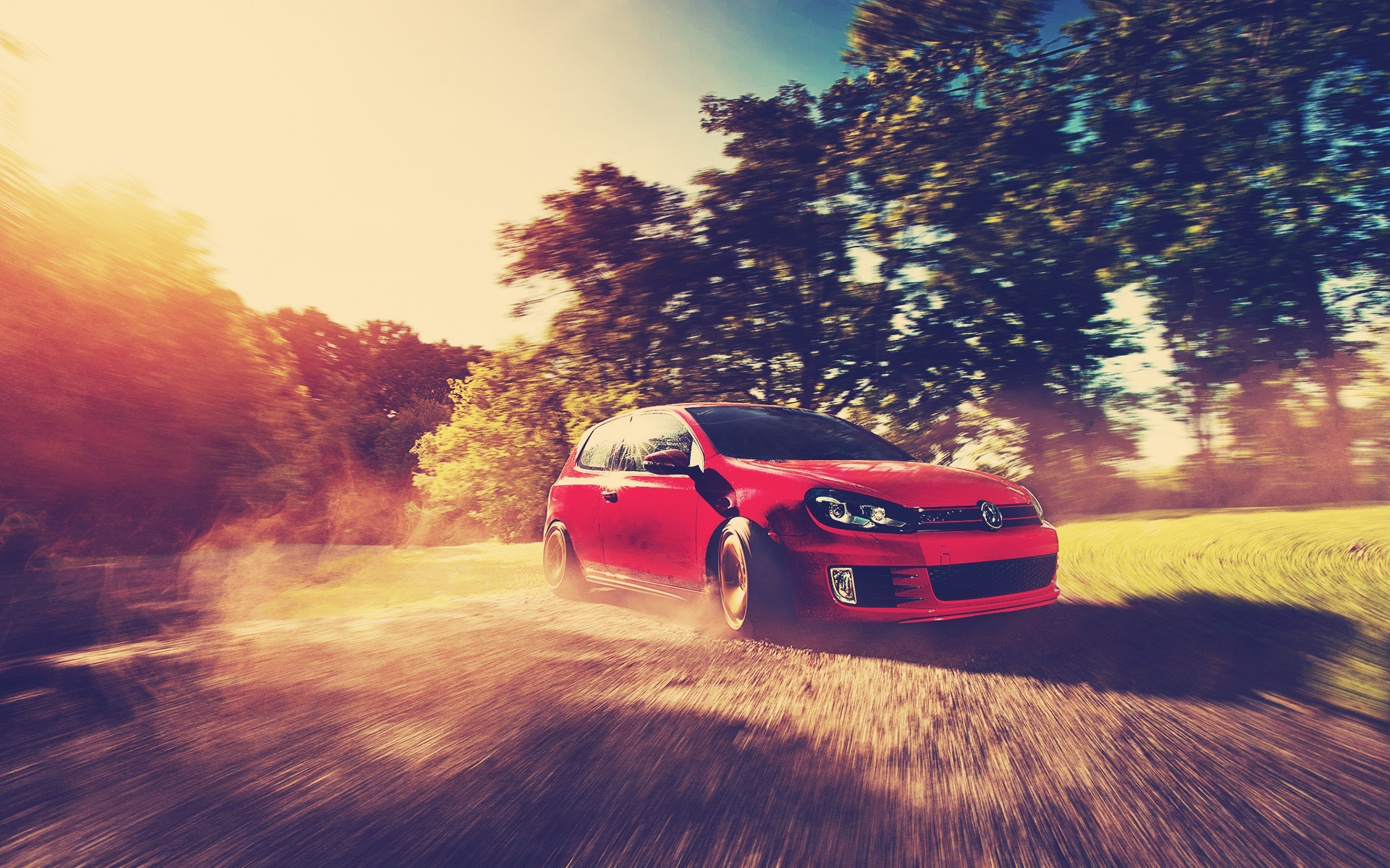 Red Golf GTI Drift Wallpapers And Stock Photos