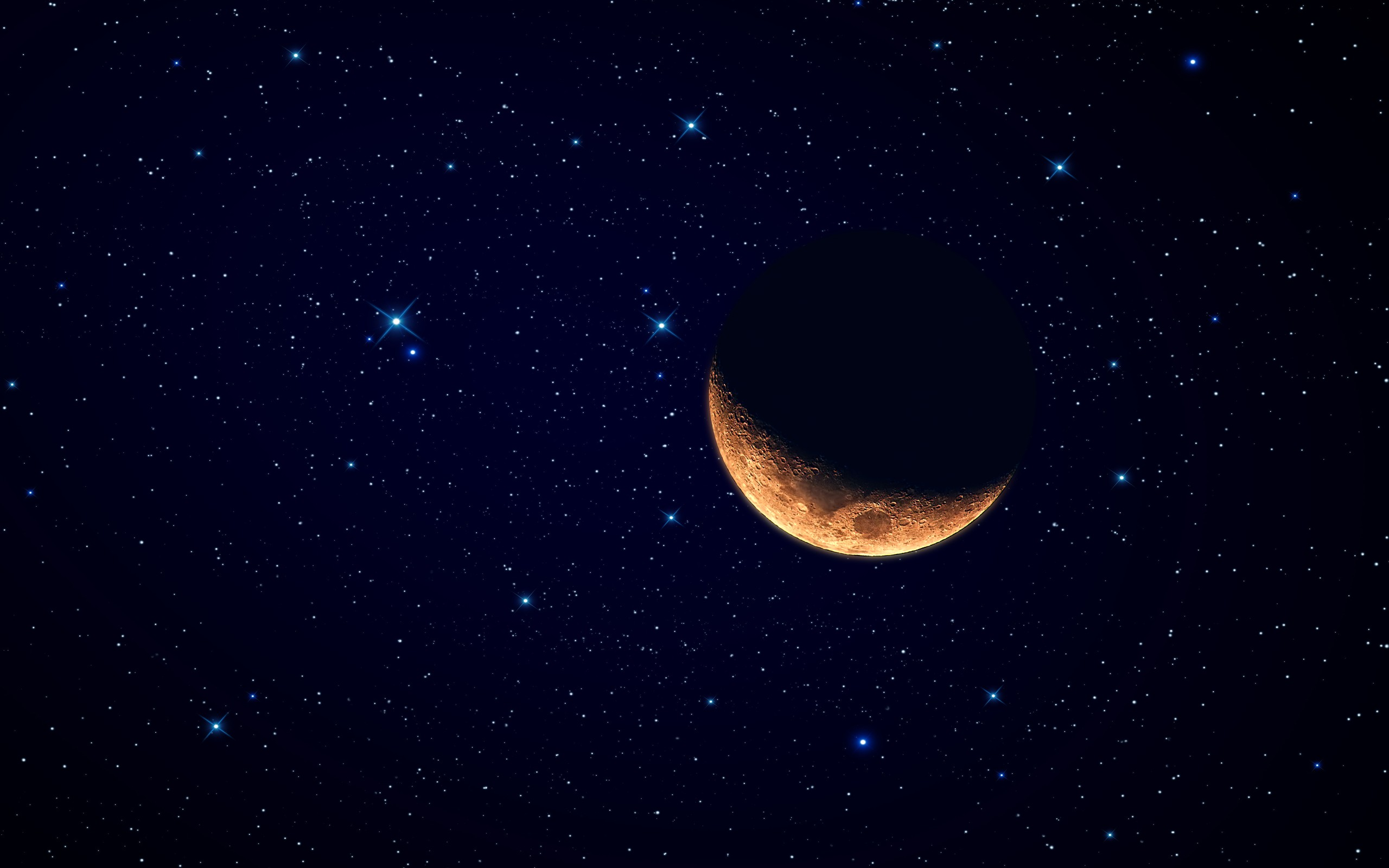 Red Moon Starry Sky Wallpapers
