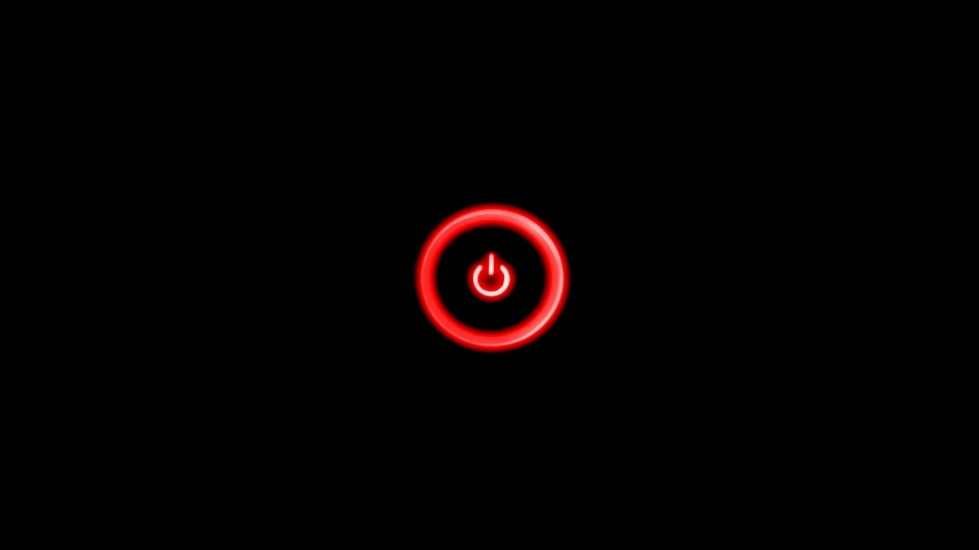 1920x1080 Red Power Button