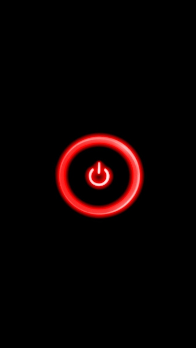 640x1136 Red Power Button Iphone 5 wallpaper