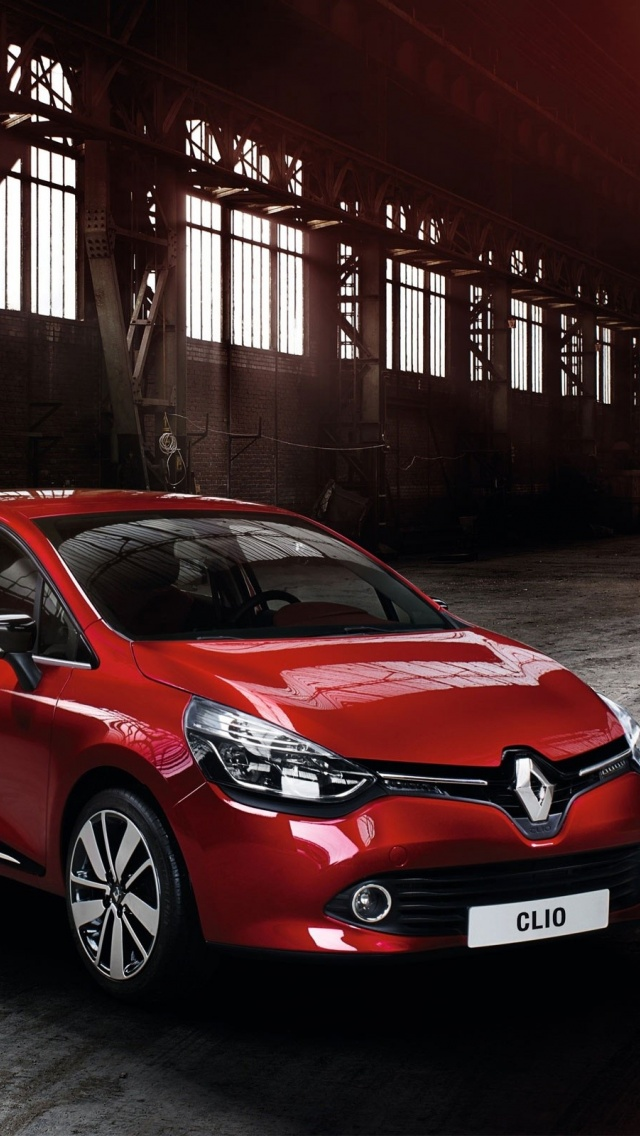 640x1136 Red Renault Clio 2012 Iphone 5 Wallpaper