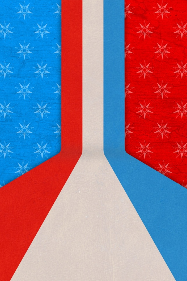 640x960 Red White and Blue Abstract Iphone 4 wallpaperRed White And Blue Iphone Wallpaper