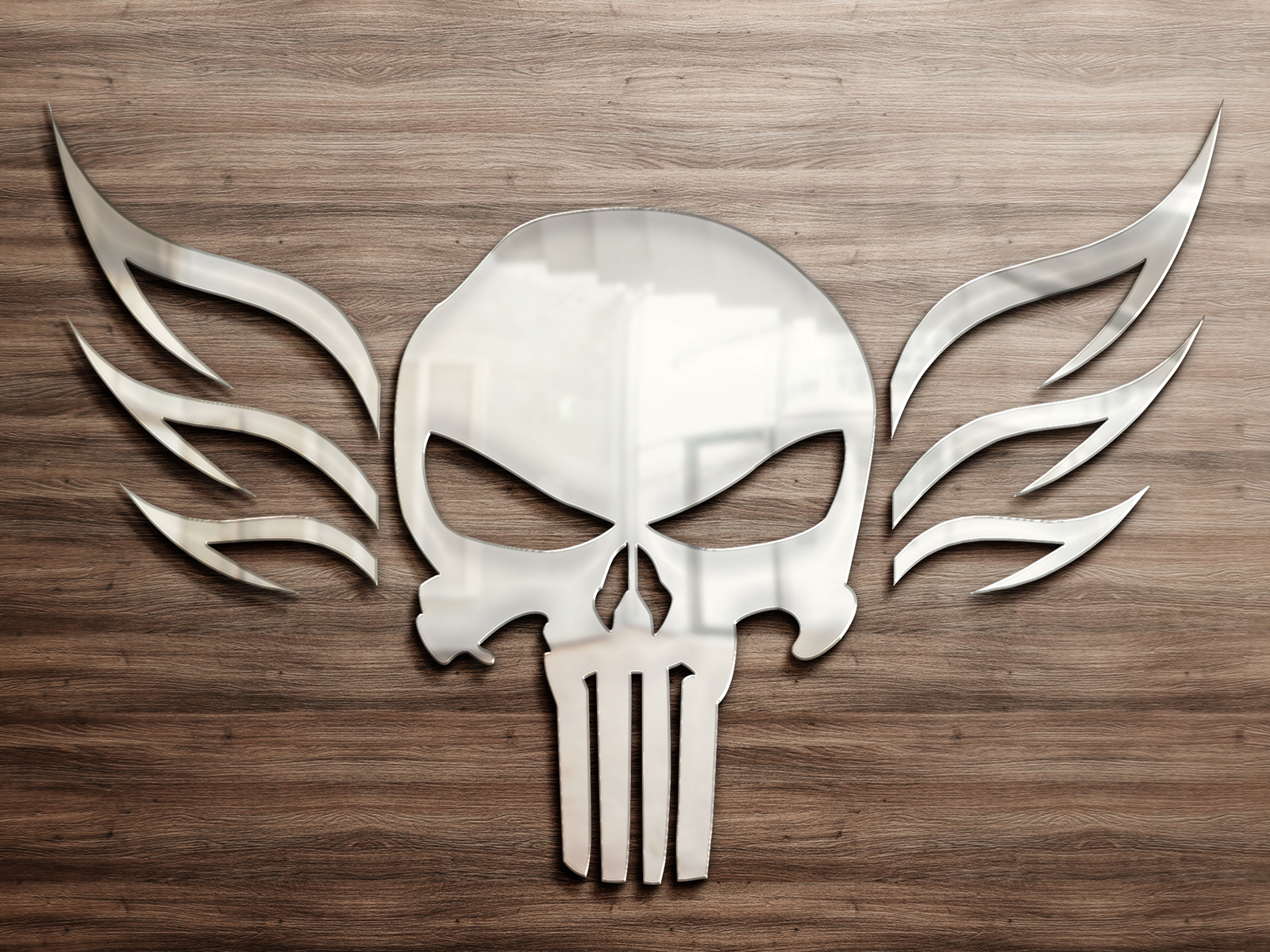 Reflective Metal Skull Wallpapers Reflective Metal Skull