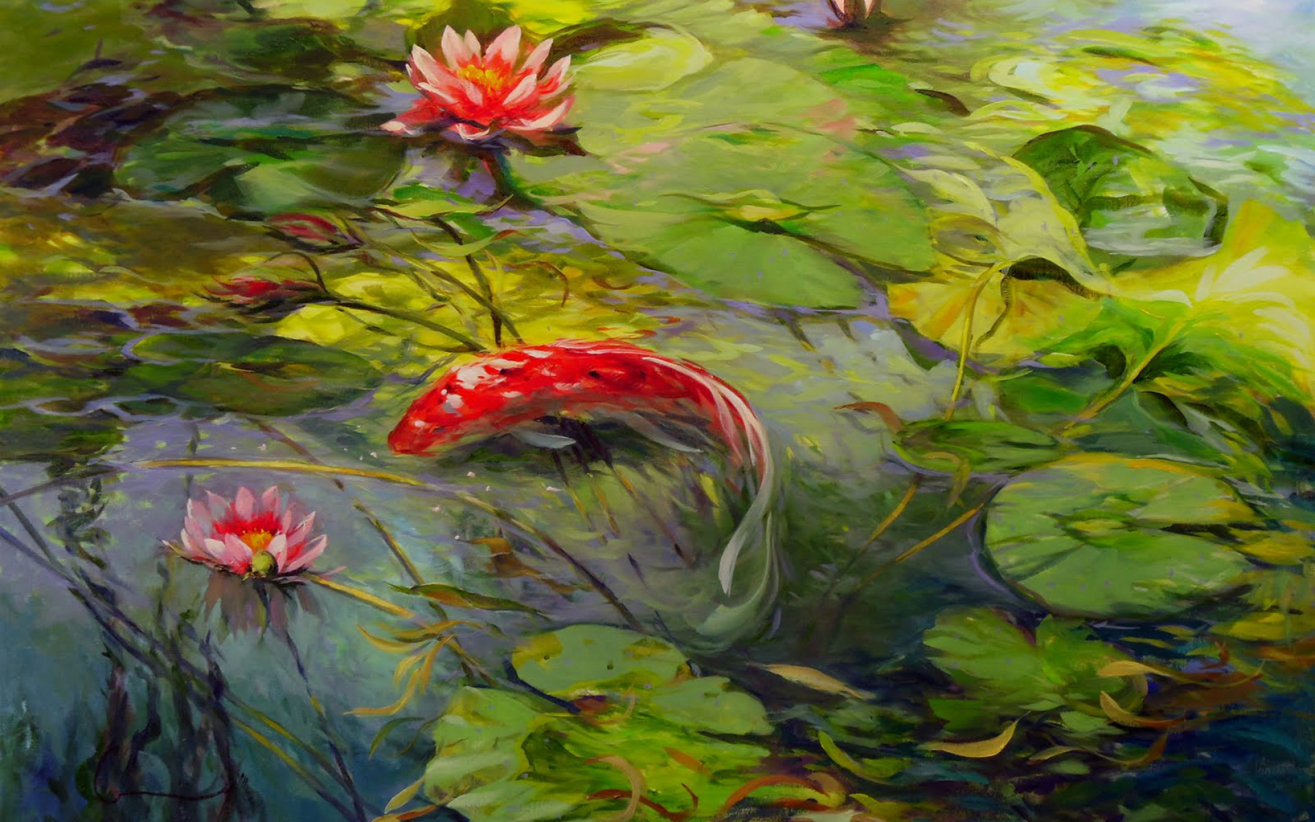 How To Paint Koi Fish In Oil