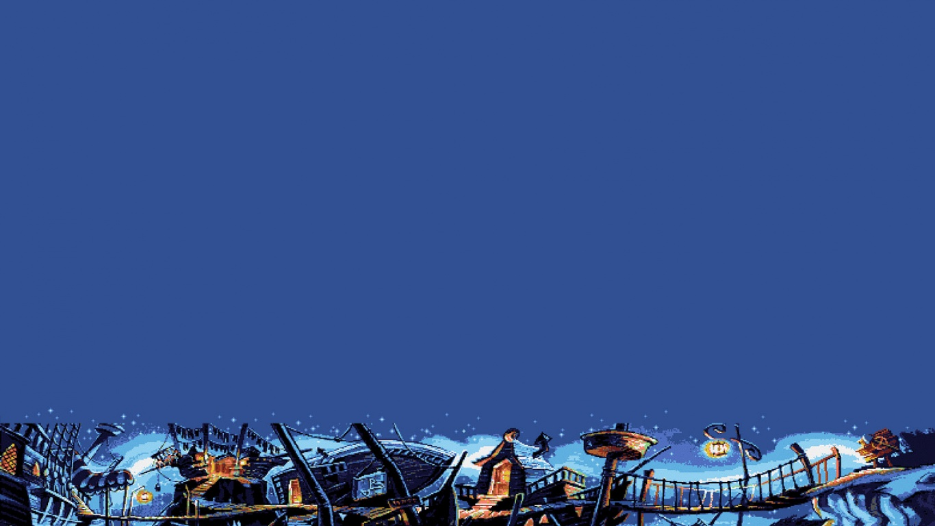 1366x768 Retro: Monkey Island 2 desktop PC and Mac wallpaper: wallpaperstock.net/retro:-monkey-island-2_wallpapers_20528_1366x768...