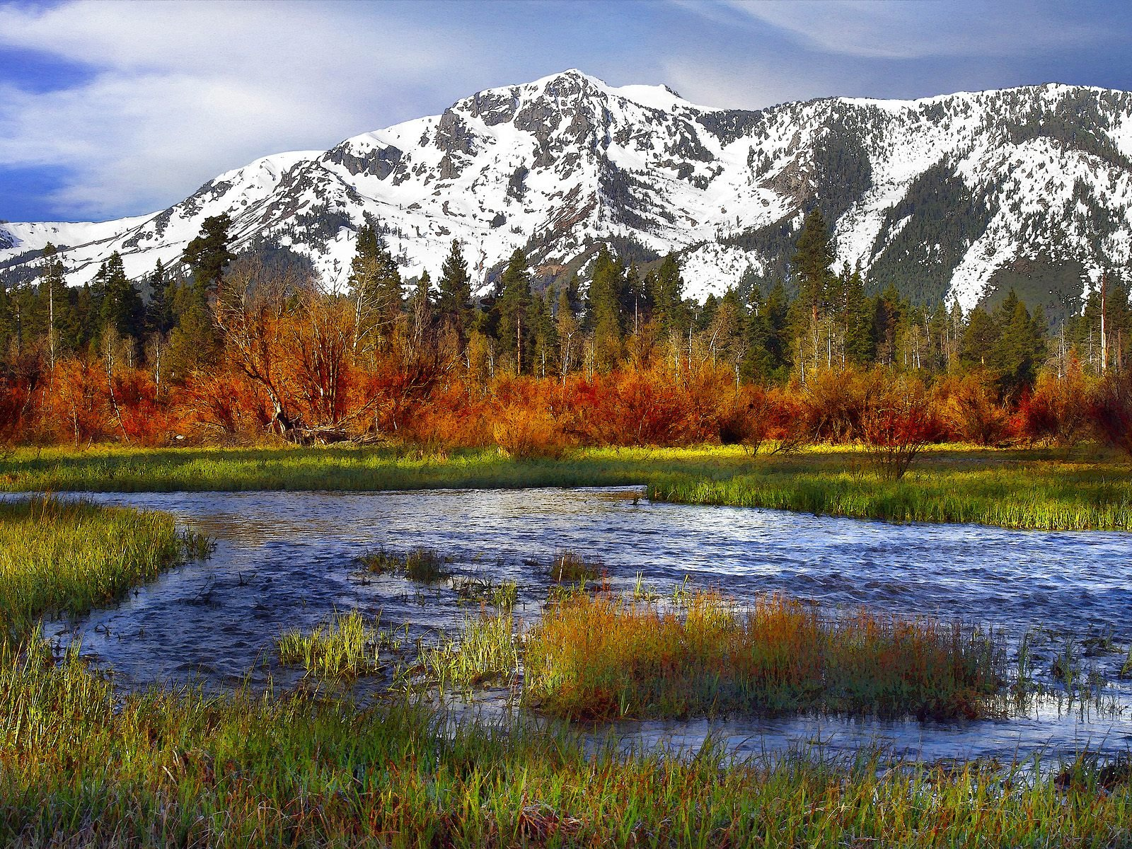 1600x1200 river and mountains desktop pc and mac wallpaper - Desktop wallpaper 1600x1200 ...