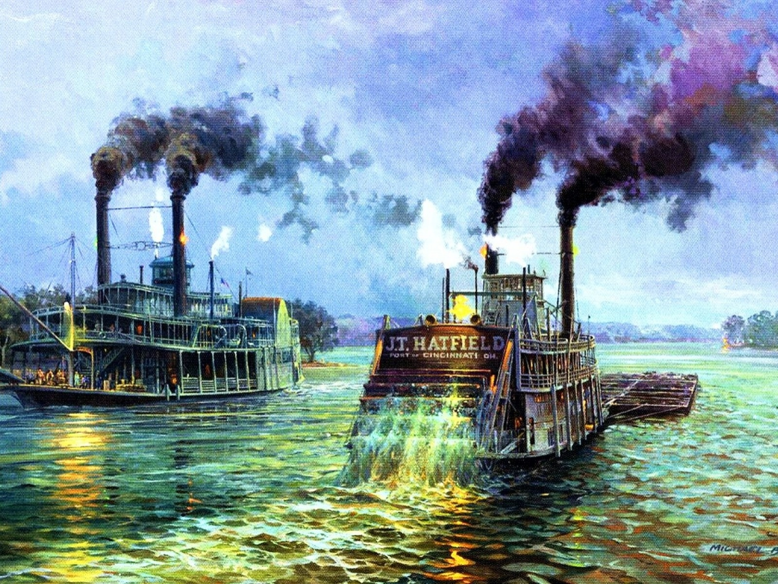 steam as alternative energy for steamboats