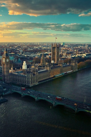 320x480 River Thames Big Ben England Iphone 3g Wallpaper