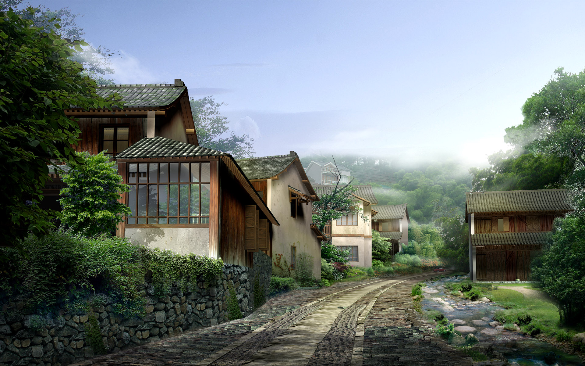 Home Photos Alluring Of Chinese Village Desktop Photos