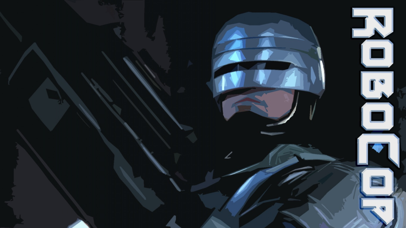 1366x768 robocop desktop pc and mac wallpaper