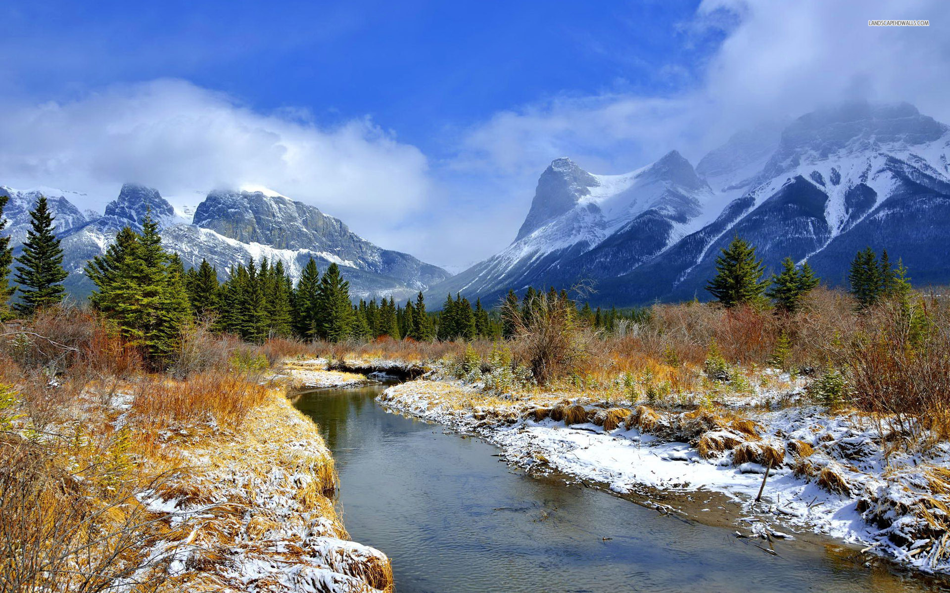 Rocky Mountains River Amp Scenic Wallpapers Rocky