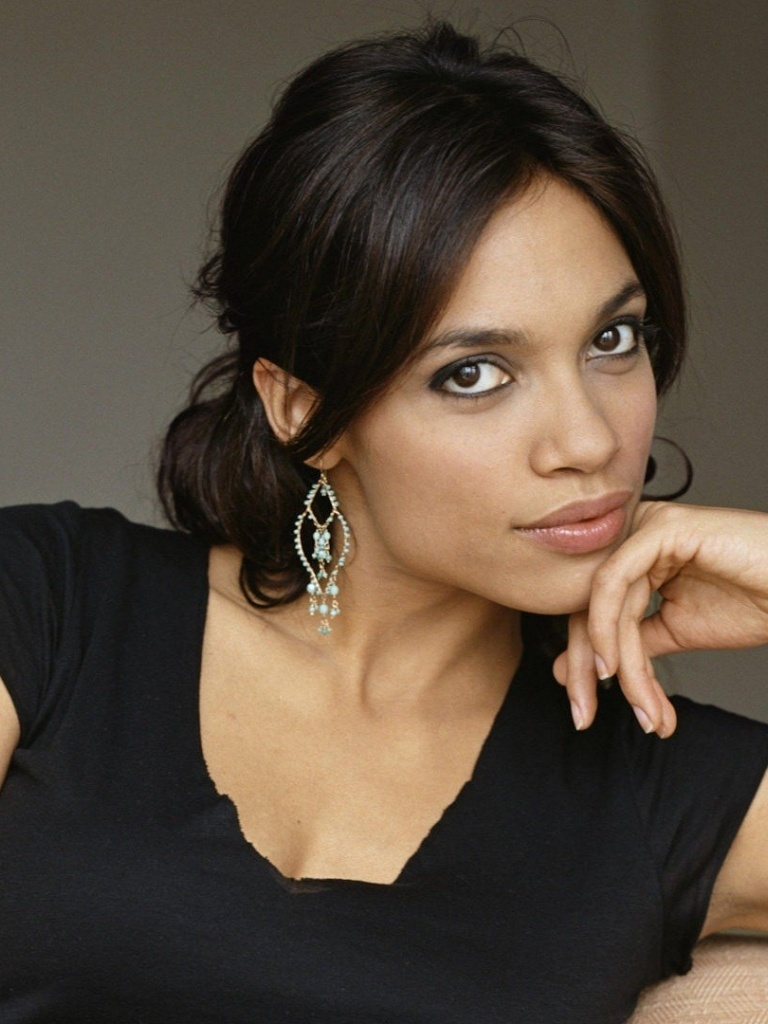 768x1024 Rosario Dawson Sensuous Ipad mini wallpaper Rosario Dawson