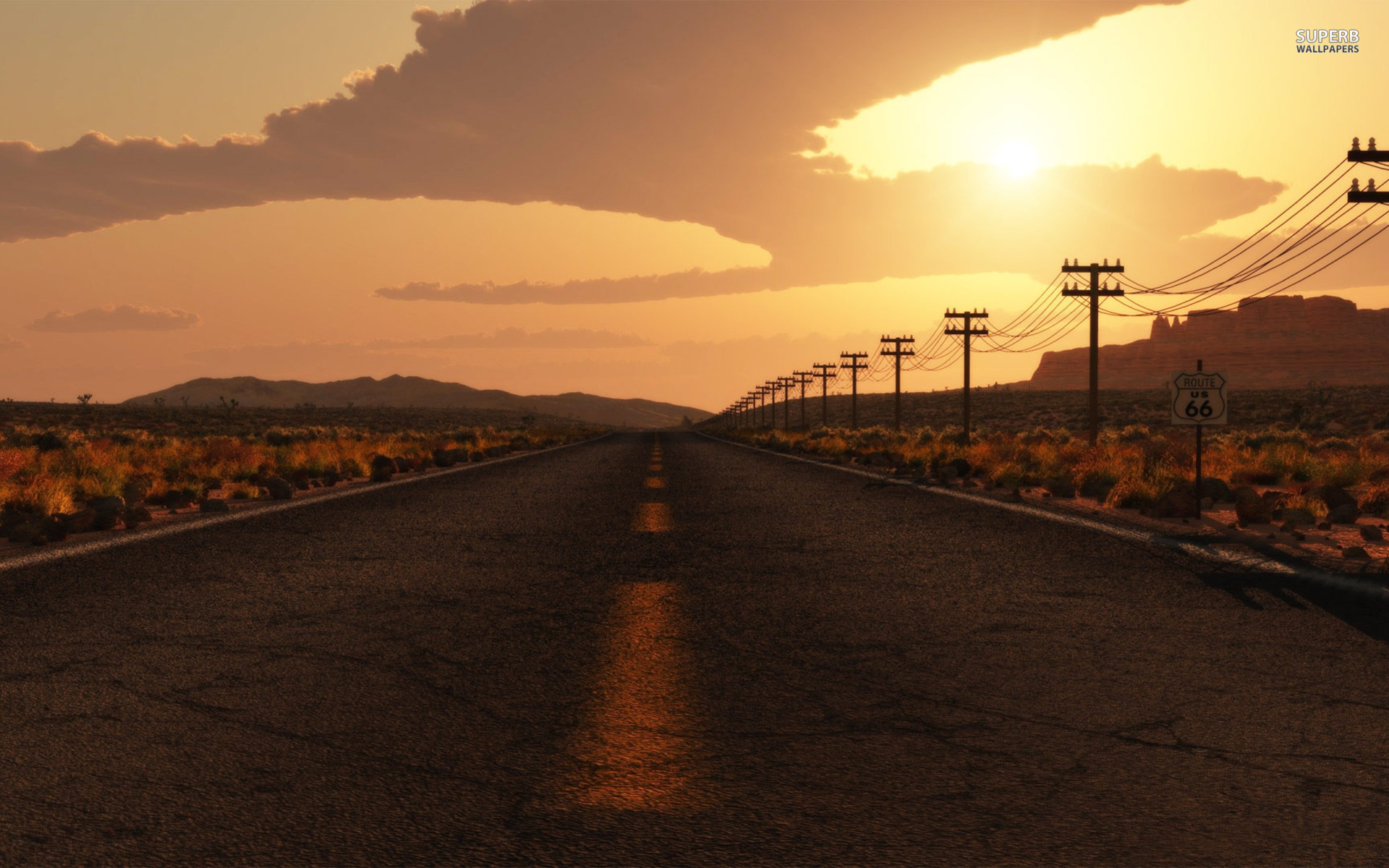 1920x1200 route 66 usa desktop pc and mac wallpaper for Wallpaper home usa