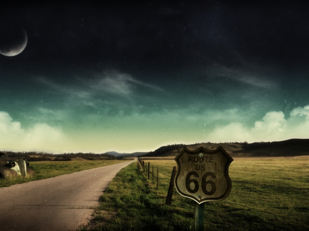 1024x768 route 66 desktop pc and mac wallpaper