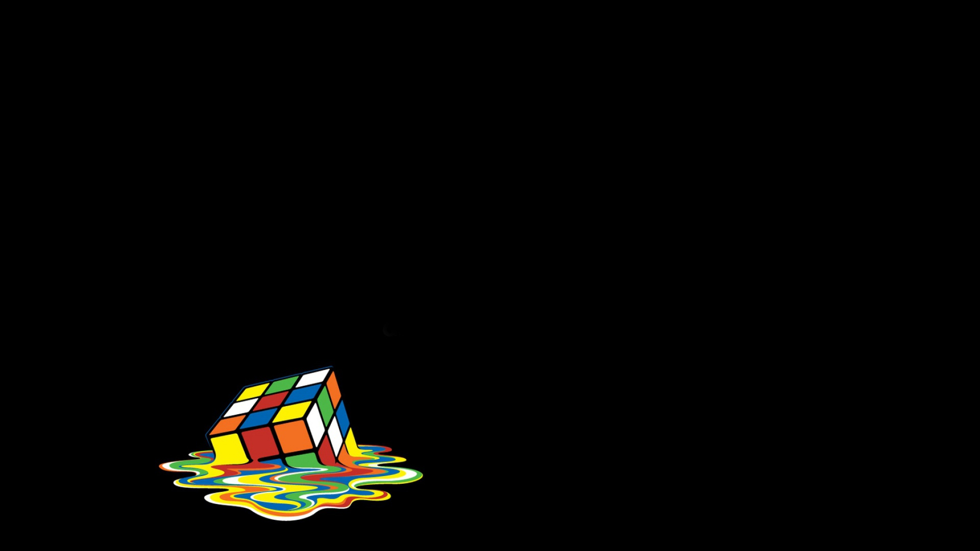 1920x1080 Rubik Cube Melting Vector Desktop PC And Mac