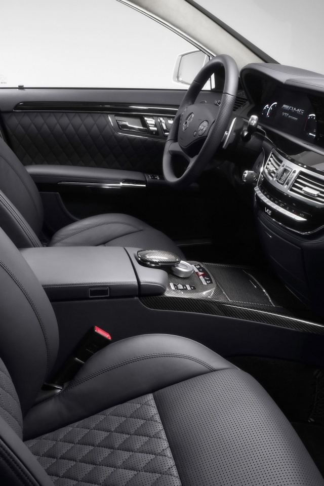 640x960 s class amg interior iphone 4 wallpaper for Interior iphone x