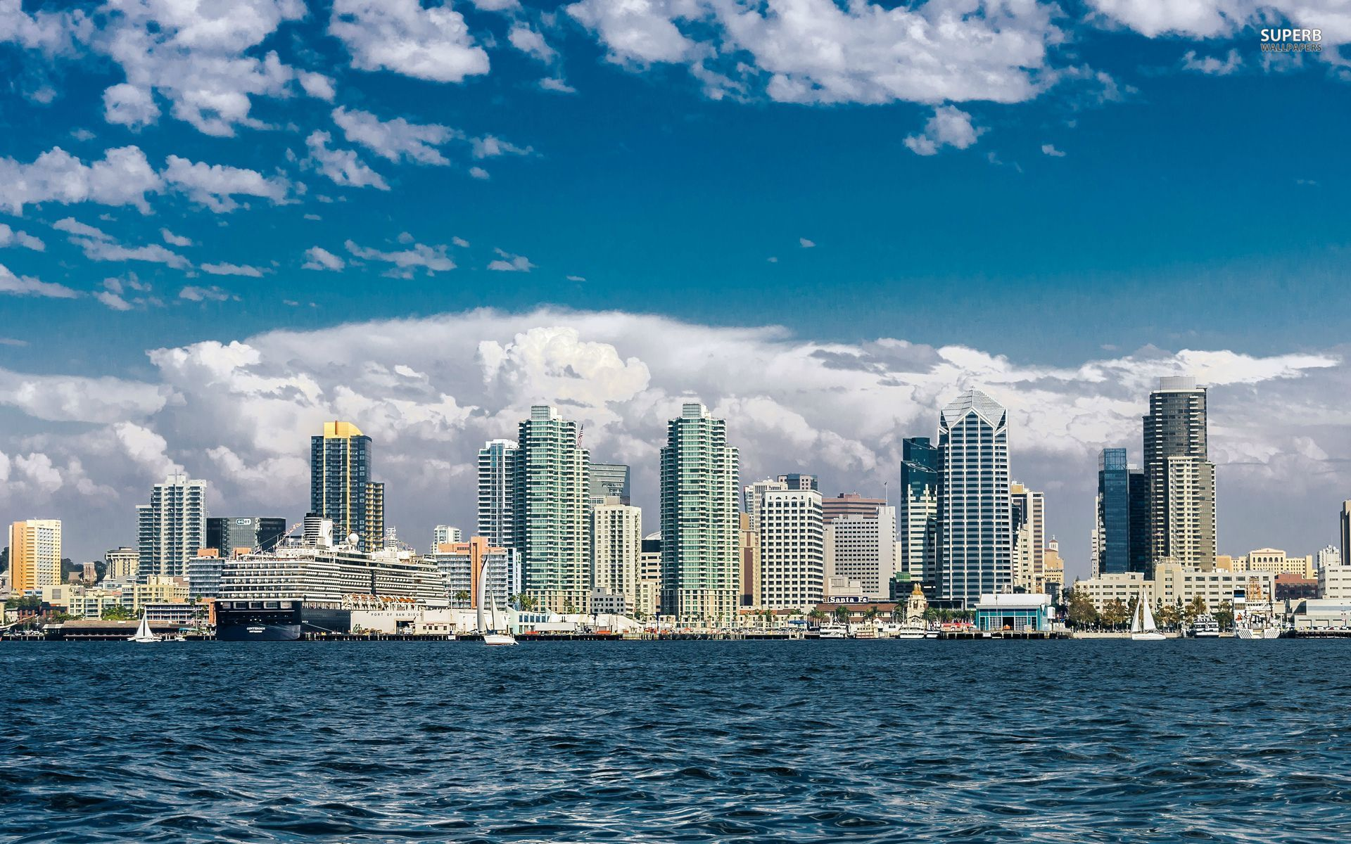 San Diego Skyline Wallpapers San Diego Skyline Stock Photos