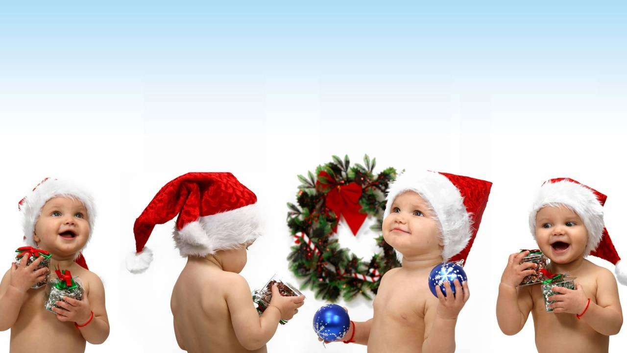 1280x720 santa kids desktop pc and mac wallpaper
