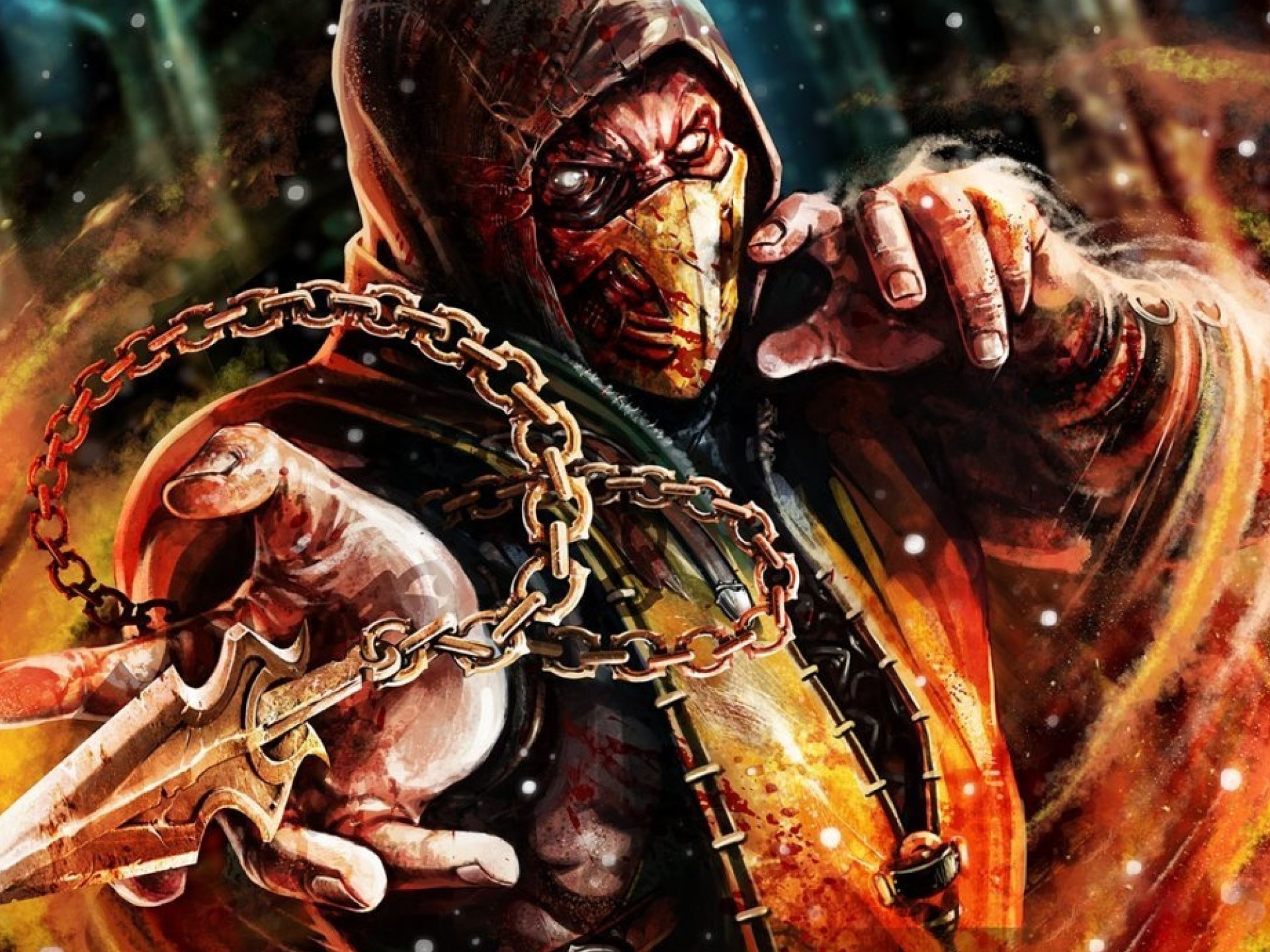 Mortal Kombat X Scorpio 3d Cool Video Games Wallpapers: 1920x1440 Scorpion Mortal Kombat X Desktop PC And Mac