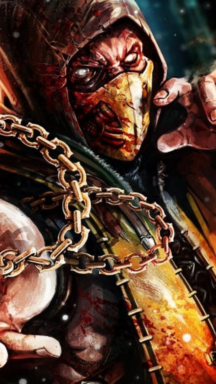 720x1280 Scorpion Mortal Kombat X Galaxy S3 Wallpaper