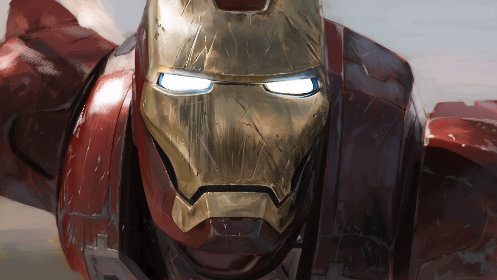 1920x1080 scratched ironman mask desktop pc and mac wallpaper