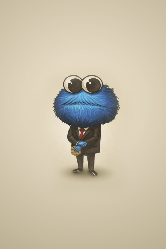 Group Of Cookie Monster Iphone Wallpaper