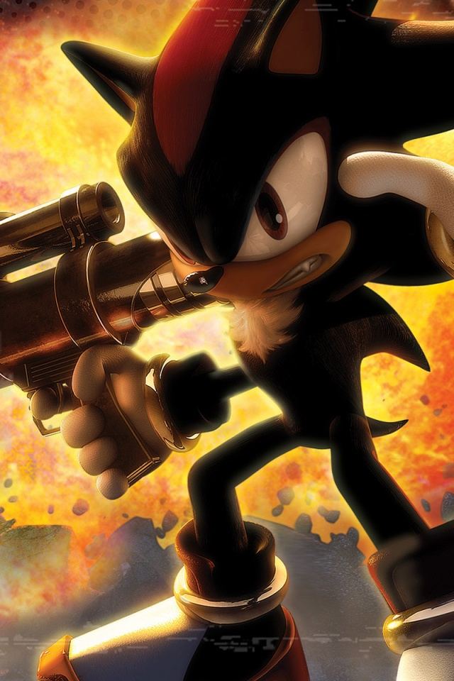 640x960 Shadow The Hedgehog Iphone 4 Wallpaper