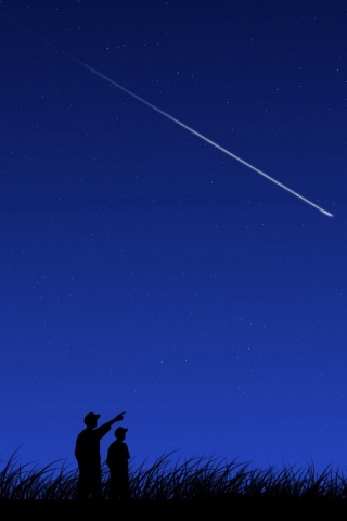 320x480 Shooting Star Iphone 3g Wallpaper