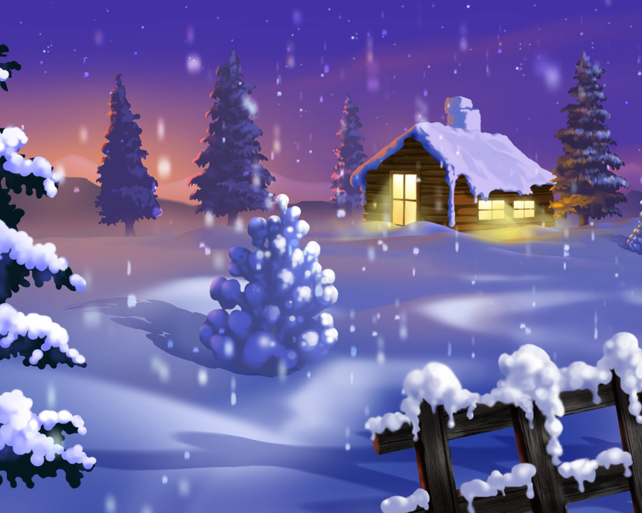 Winter Wallpaper 1280 X 1024