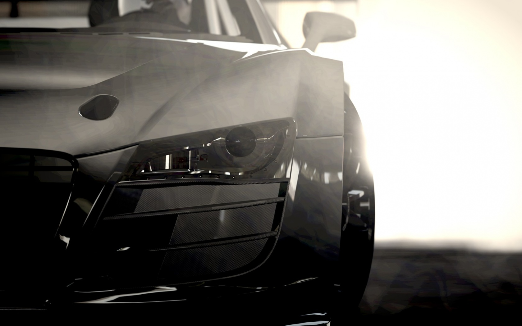 1680x1050 Silver Audi R8 Headlights Section desktop PC and Mac wallpaper
