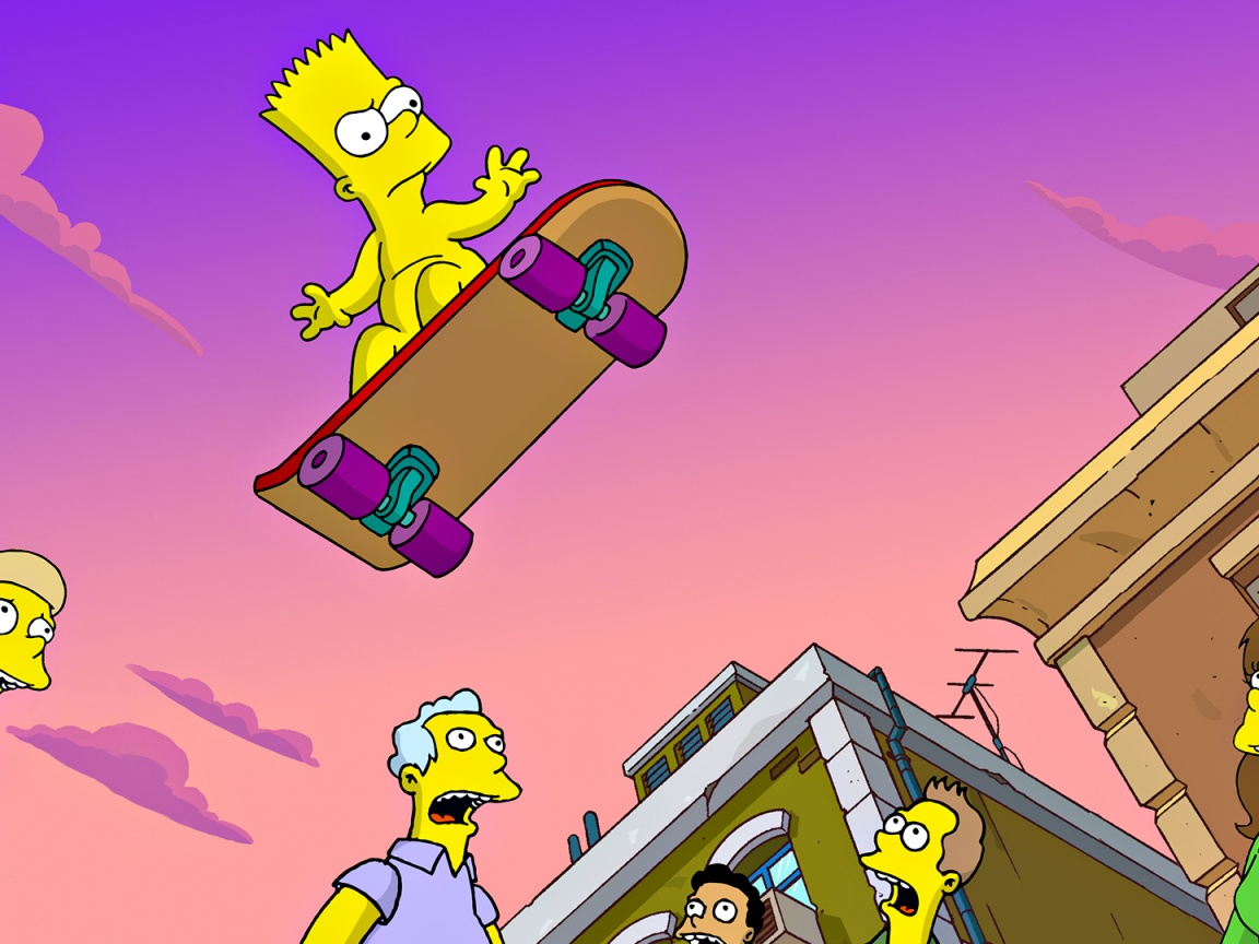 1152x864 Simpsons,  cartoons