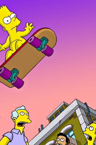 320x480 Simpsons,  cartoons